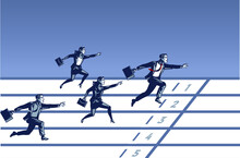 Business People Join Running R...