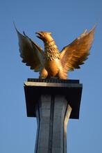 Eagle Statue Against A Backdro...