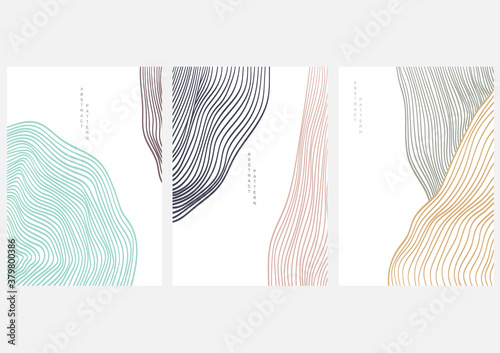 Fotografie, Tablou Abstract art background with line pattern vector