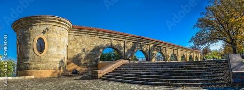 Cuadros en Lienzo Khadzhibey fortress quarantine arcade in Odessa, Ukraine