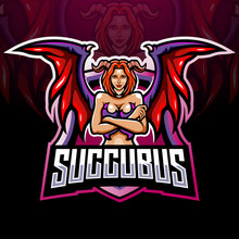 Succubus Mascot Esport Logo Design