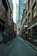 Classic Melbourne CIty Laneway with modern office building at th