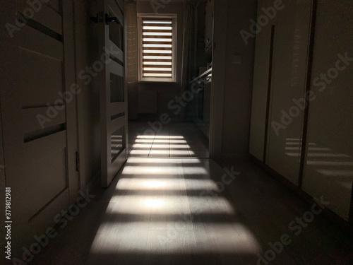 Fototapeta corridor at night