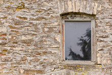 Wooden Window In An Old Stone ...