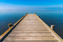 Wooden Pier Looking Out To The...