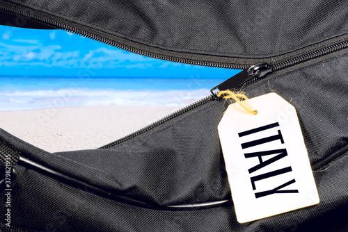 Photo Eine Reisetasche und Urlaub in Italien