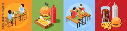 Fototapeta Burger House Design Concept obraz