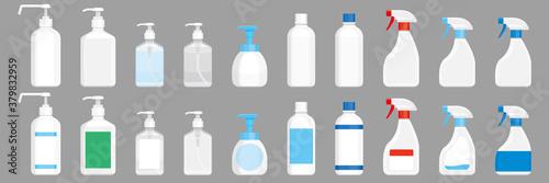 Papel de parede 除菌用アルコール、洗剤の容器。スプレー、ボトル、ポンプ。