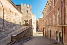 In The Streets Of Old Town Fabriano - Italy