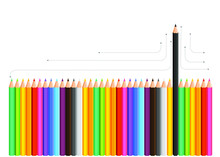Pencils Black Being Different,...