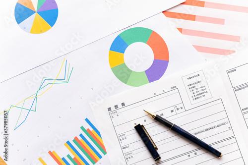 履歴書 グラフ ビジネスイメージ