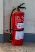 An Old Fire Extinguisher Was L...