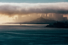 San Francisco Skyline And Fog At Sunrise
