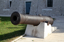 Old Cannon Stand In Sibenik In...