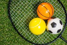 Basketball, Soccer, Tennis Bal...