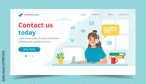 Fotomural Contact us landing page