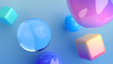 Abstract 3d Render Of Colorful...