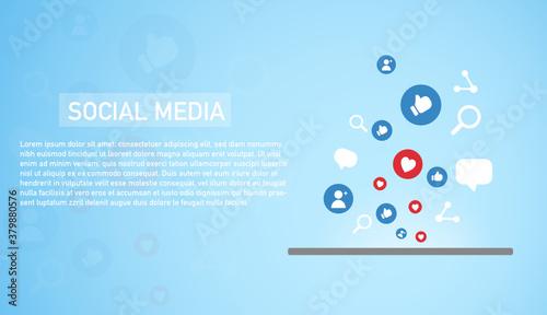 Cuadros en Lienzo Social media connection concept