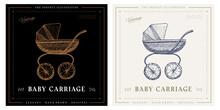 Baby Carriage Sketch Vintage Retro Illustration