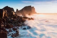 Rugged Icelandic Coastline Wit...