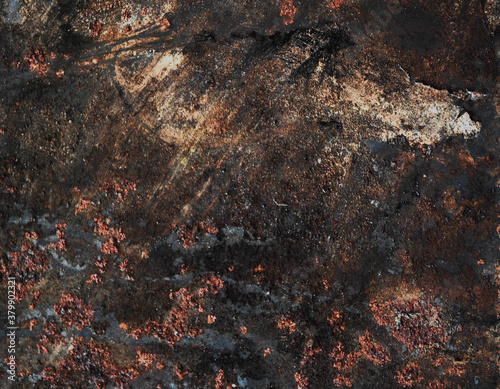 Rusted metal corrugated metal background Fotobehang