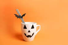 Coffee Cup With Jack O Lantern...