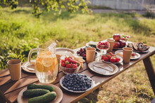Photo Of Summer Picnic Table C...