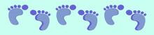 Set Of Baby Foot Print Cartoon...