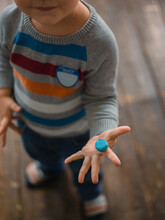 Boy Holding Plasticine