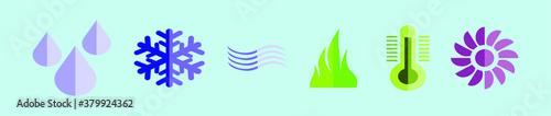 Fotomural HVAC icons