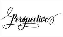 Perspective Script Cursive Cal...