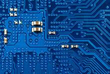 Blue Printed Circuit Board Bac...