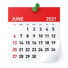 June 2021 - Calendar