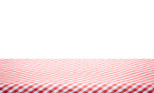 Red And White Checkered Tablec...