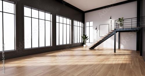 Obraz The interior ,Modern loft style living interior design. 3d rendering - fototapety do salonu