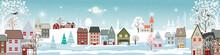 Winter Landscape In Village Wi...