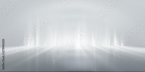 Obraz na płótnie soft gray studio room background, grey floor backdrop with spotlight