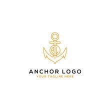 Logo Design AL Anchor Artistic Alphabet Logo Icons That Are Elegant, Trendy. - Vector