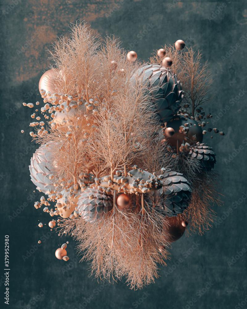 Abstract metallic bouquet