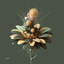 Artificial Plastic Flower With Unusual Shapes And Colors