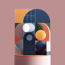 Group Of Abstract Shapes
