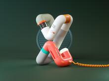 Futuristic Device Made Of Plastic Tubes