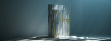 Abstract Glass And Metal Sculp...