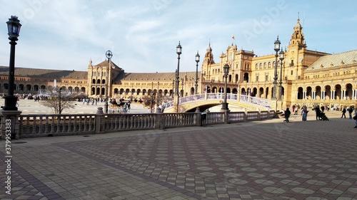 Fotografie, Obraz Plaza de España en la ciudad de Sevilla