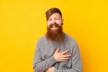 Redhead Man With Long Beard Ov...