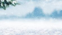 Winter Background, Panorama Wi...