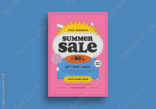 Fototapeta Summer Sale Flyer Layout obraz