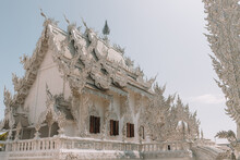 White Temple Under The Sunligh...