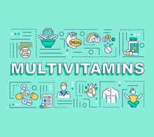 Multivitamins Word Concepts Ba...