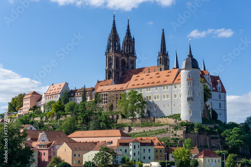 Fototapety, obrazy: castle and cathedral in the German city of Meissen on the Elbe River